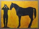 I'm just killing time,olio su tela 150x200 cm, 2012 collezione privata