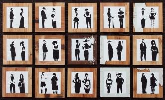 Dialoghi, olio su tavola 100x150 cm, 2015 coll.privata