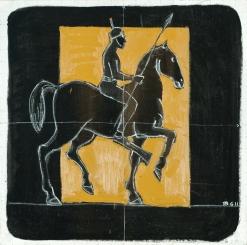 il fantasma del sub, olio su tela 80x80 cm, 2011 collezione privata