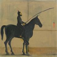 Sub a cavallo, olio su tela 40x40 cm, 2011 collezione privata