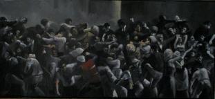 olio su tela 90x200 cm, 2007- coll.privata
