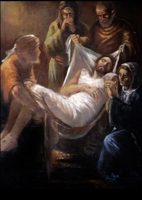 una delle 33 opere per la Chiesa della Madonna del Rosario di Pompei- Silla di Sassano (SA)- olio su tela 180x120 cm, 2006